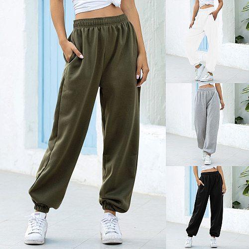 Loose Joggers Wide Leg SweatPants Women Trousers Plus Size Soft High Waist Pants Streetwear Korean Casual Yoga Pant