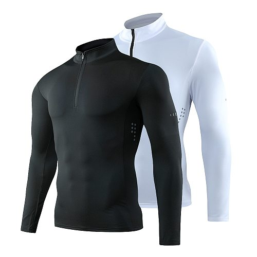 Men's running T-shirt, quick drying, breathable sports, fitness, crossfit, gym, exercise,  Long sleeve, Slim fit shirt