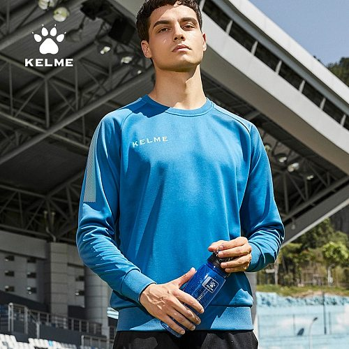KELME Round Neck Football Sweatshirt Mens Pullover Long-Sleeved Football  Autumn And Winter Training  Sports Top 3891370