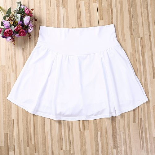 Summer Sports Tennis yoga Skorts Fitness Short Skirt Badminton breathable Quick drying Women Sport Anti Exposure Tennis Skirt