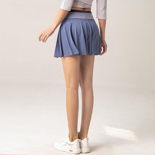 Cloud Hide Sports Skirts High Waist Tennis Golf Skirt Fitness Shorts Women Athletic Quick Dry Running  Short Sport Skort Pocket