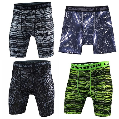 Men Bodybuilding Shorts Fitness Workout Inseam Gyms Shorts Male Muscle Alive Elastic Compression Tights Drop Ship