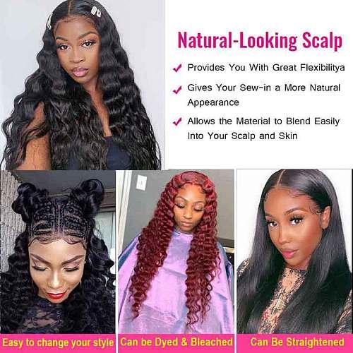ALI GRACE Hair Brazilian Loose Wave Bundles 1 3 4 Pcs Human Hair Bundles 100% Remy Human Hair Extensions Hair Weaves Bundles