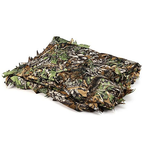 Hunting 3D Leaf Camouflage Camo Jungle Clothing  Polyester Durable Outdoor Woodland Sniper Ghillie Suit Kit