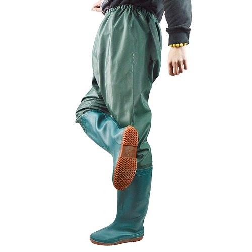Ultralight Waterproof PVC Rubber Wading Pants Underwater Catch Fish Non-slip High Tube Rain Boots Outdoor Fishing Hunting Pants