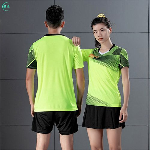 Ventilation and quick drying training short sleeve T-shirt match sportswear table tennis suit volleyball suit badminton suit