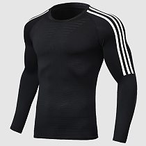 2021 Men Running Fitness T Shirt Quick Dry T Shirt Training Sports Jersey Football Solid Sports Muscle Shirts Gym Tops tees