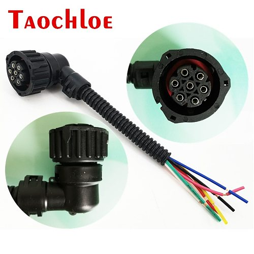 10Pcs 7 Pin Car Plug Socket For Volvo FH Heavy Truck For Mercedes-benz Actros Tail Light Assembly Connector Wire