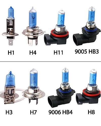 55W H1 H3 H4 H7 H8 H9 H11 HB3 HB4 9006 Halogen Bulbs 5000K Super Bright White Car Light Halogen Lamp Headlight Fog Lights