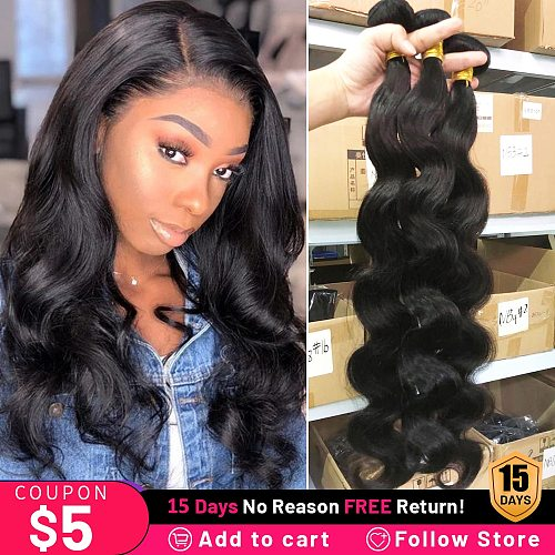 Body Wave Bundles Malaysian Human Hair 8-30 Inches Bundles Cheap Hair Natural Black Color Can Be Dyed & Restyed Fast Delivery