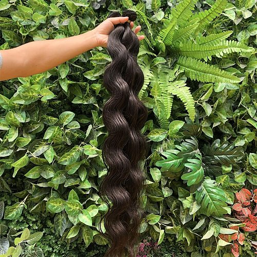 Brazilian Virgin Hair Body Wave Human Hair 3/4 pcs Hair Weave Bundles Natural Color 30 32 34 36 inches Long Hair Extensions