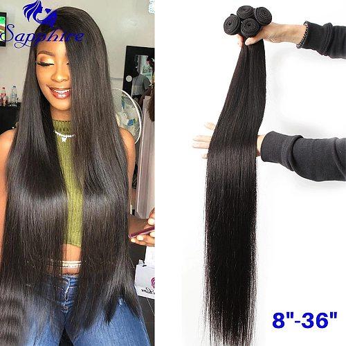 Sapphire  8 -36  Brazilian Human Hair Weave Bundles Brazilian Straight Hair Natural Color Human Hair Bundles Deal Free Shipping