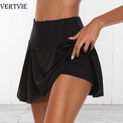 VERTVIE Summer Running Shorts Women 2 In 1 Quick Dry Yoga Shorts Gym Loose Sport Shorts Breathable Tennis Skirt Girls Pantskirt