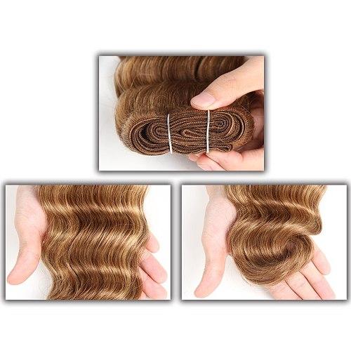 Sleek Colorful Hair Extension Double Drawn Natural Body Wave Hair Brazilian Body Wave Human Hair Weave Bundles Remy Human Hair