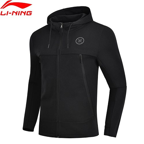 Li-Ning Men Wade Series Sweater 3D Fitting Regular Fit 66% Cotton 34% Polyester LiNing Comfort Sports Hoodie AWDN901 COND18