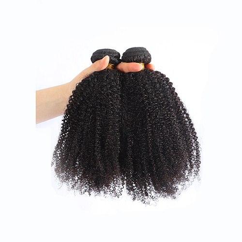Kinky Curly Hair Extension 100% Human Hair Bundles Unprocessed Virgin Hair Weaves 1/3/4 Bundles Nature Color