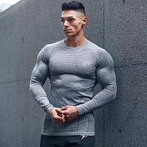 2021 New Brand Running Shirt Men's Long Sleeve Gym Shirt Men Sportswear Compression Dry Fit Shirts For Men Fitness Sport T-Shirt