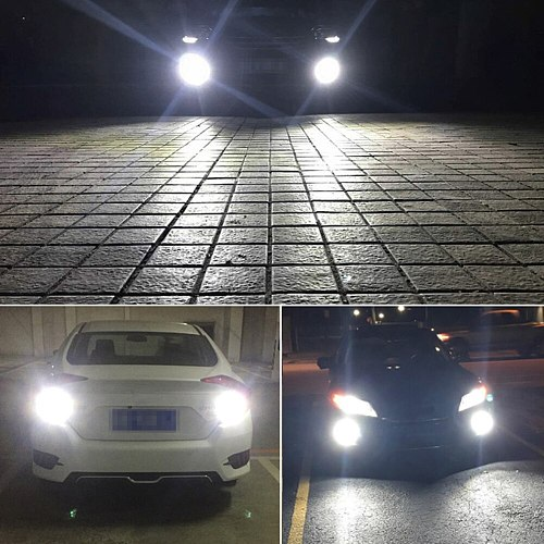 Free Shipping 2PCS H7 LED Car Anti-fog Light Bulb 12W 6000K 1200LM Headlight Bulbs 12SMD 3030 Wholesale Quick delivery CSV