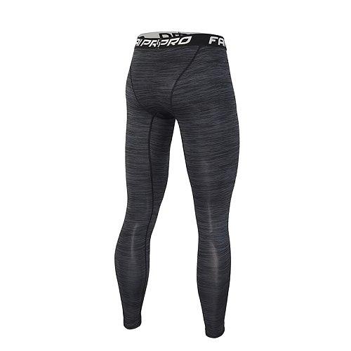 FANNAI Running Tights Men Sports Leggings Compression Pants Jogging Fitness Compress Gym Long Trousers Yoga Skinny legging Slim
