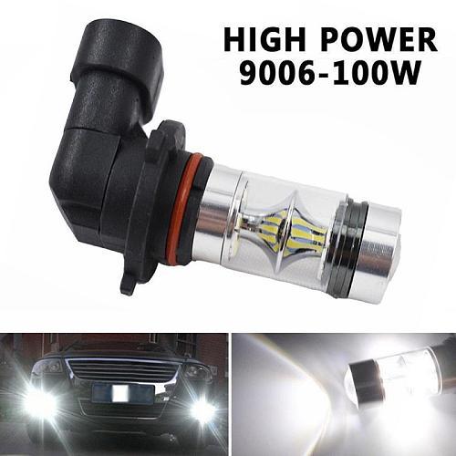 1Pcs H8 H11 Led HB4 9006 HB3 9005 Fog Lights Bulb 3030SMD 1200LM 6000K White Car Driving Running Lamp Auto Leds Light 12V 24V