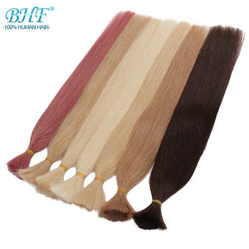 BHF Human Hair Crochet Bulk indian Hair Weave Bundles Remy Bulk Human Hair No weft 100G/pieces
