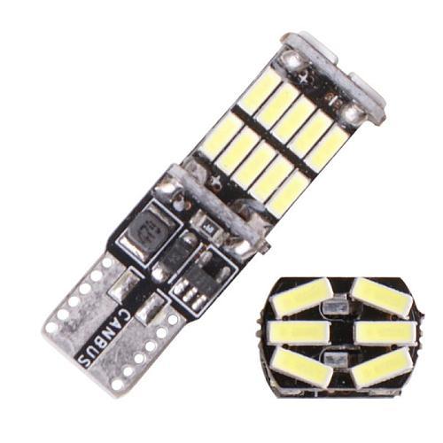 Signal Lamp 1200Lm T10 W5W LED Canbus Bulbs 4014 26SMD Instrument Lights White 12V 7000K LED Reversing Lights