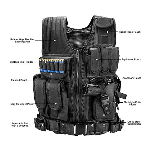 Tactical Vest Military Combat Army Armor Vests Molle Airsoft Plate Carrier Swat Vest Outdoor Hunting Fishing CS Training Vest