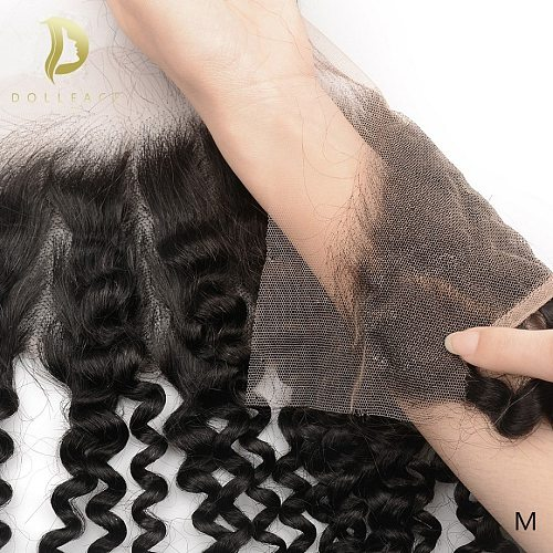 13x4 deep wave lace frontal closure 100% brazilian human hair frontal hd transparent Swiss lace frontal curly water wave remy