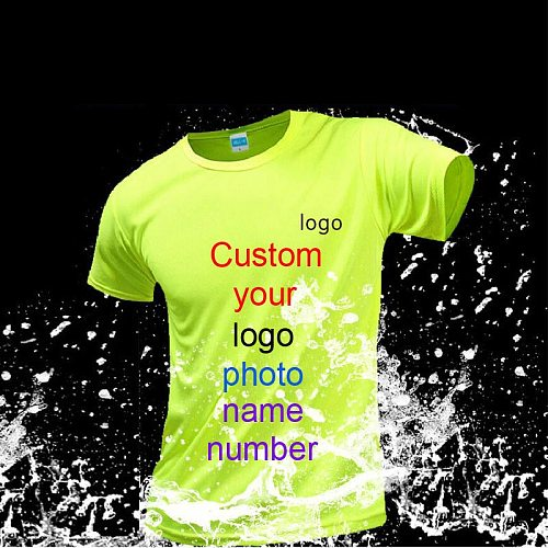 Your OWN Design Brand Logo/Picture Custom Men DIY Sport T shirt Short sleeve Casual T-shirt tops Tee Running Tranning  Shirts