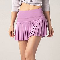 Cloud Hide Solid Tennis Skirts Women Golf Badmintion Pantskirt Sports Fitness Skirt Shorts Girl High Waist Sport Skort Plus Size