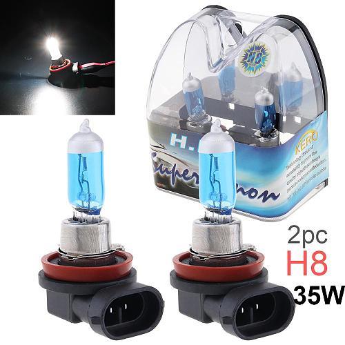 2pcs 12V 6000K White Light Super Bright Car Xenon Halogen Lamp Auto Front Headlight Fog Light Bulb H8 H9 H10 H11 9005 9006 9012