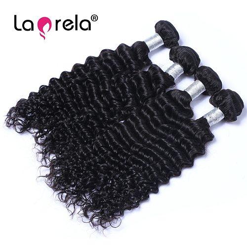 Wholesale Deep Wave Human Hair Bundles Unprocessed Virgin Hair Weave 1 Piece Lot Virgin Brazilian Hair Weft 100g
