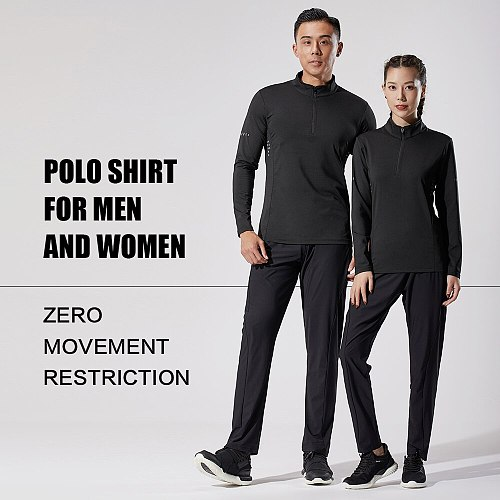 Compression t-shirt for men, rashguard long sleeves running t-shirt for gym and football, tight sportswear men's T-shirt zipper