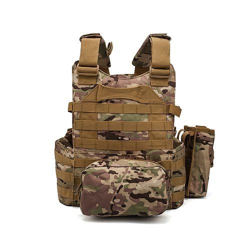 Hunting Airsoft Multicam Molle Nylon Modular Vest Tactical Combat Black Vests Outdoor 6094 Vests Military Men Clothes Army Vest