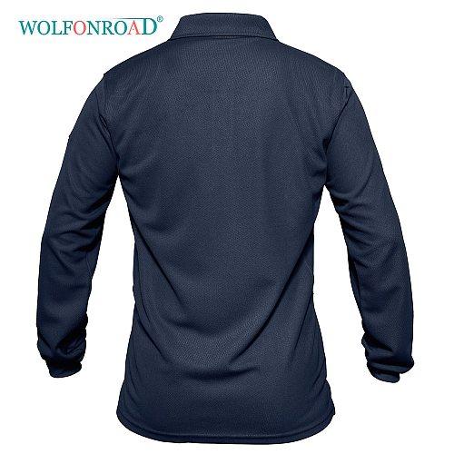 WOLFONROAD Outdoor Men's Long Sleeve Shirts Golf Fishing Hiking T-shirts Military Camping Sport Shirts Breathable Man Tops Male