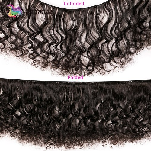 Brennas customized double drawn human hair Bouncy curly hair bundles Brazilian Funmi Remy hair weave extension High Ratio