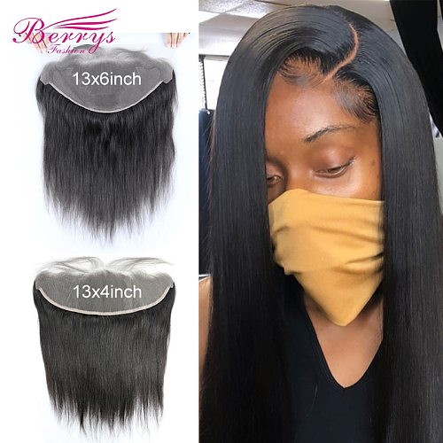 13x6 HD Lace Frontal  Straight 13x4 Transparent Lace Frontal Brazilian Virgin Hair With Baby Hair Bleached Knots Pre plucked