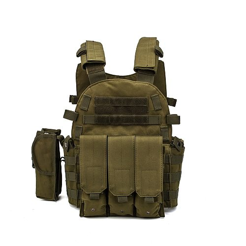 Nylon Molle Tactical Vest Body armor Hunting Plate Carrier Airsoft 6094 M4 Pouch Combat Gear Camo Military Army Vest Accessories