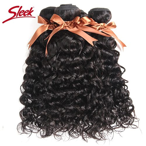 Sleek Brazilian Water Wave 100% Natural Color Human Hair Remy Hair Bundles Weave Extension Can Buy 3 or 4 Bundles Free Ship