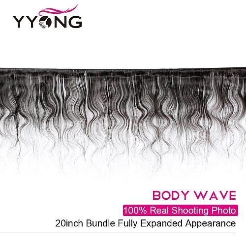 Yyong Hair Brazilian Body Wave Hair 4 Bundles Deals Human Hair Extention Remy Hair Natural Color 8-26 Inch Free Shipping