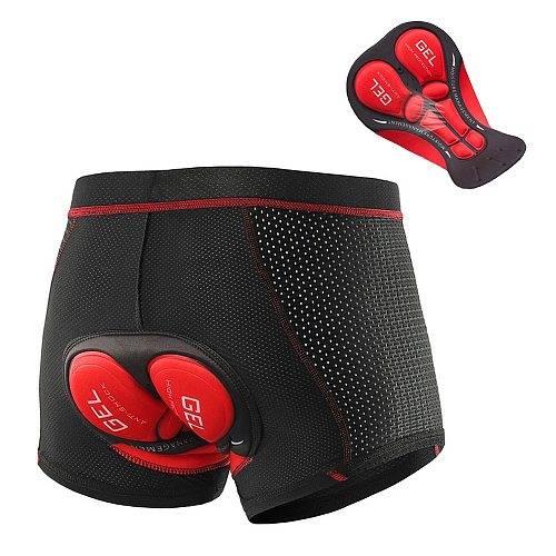 NEW 2020  Cycling Shorts Cycling Underwear Pro 5D Gel Pad Shockproof Cycling Underpant Bicycle Shorts Bike Underwear