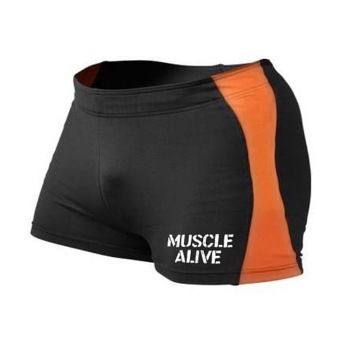 MUSCLE ALIVE Compression Shorts Men Gym Shorts Bodybuilding Brand clothing sporting Male Shorts Tights Bermuda Masculina Fitness
