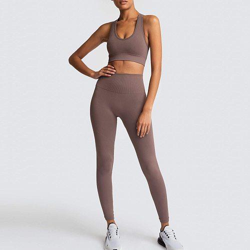 2PCS Hyperflex Seamless Yoga Set Sportswear Sports Bra+Leggings Fitness Pants Gym Running Suit Exercise Clothing Athletic Drop