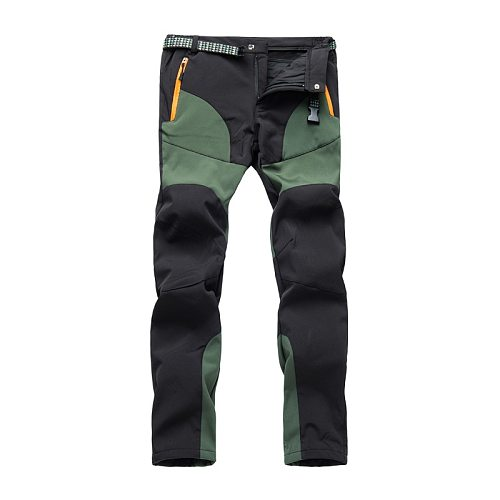 Men's Winter Fleece Softshell Hiking Pants Outdoor Sports Thick Warm Fishing Trekking Camping Skiing Male Trousers m-4xl