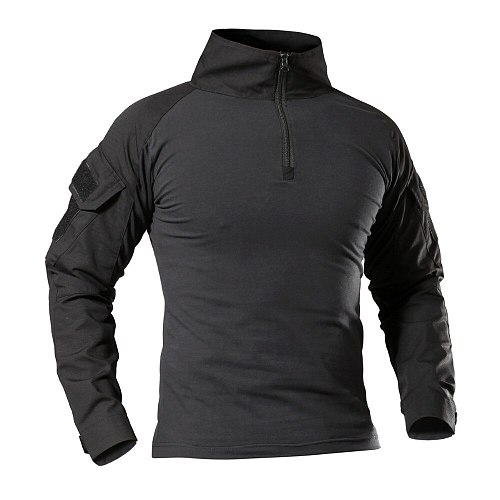 Tactical Military Shirt Men Long Sleeve Solider Army Shirts Multicam Uniform Frog Suit T Shirts Combat Clothing Men