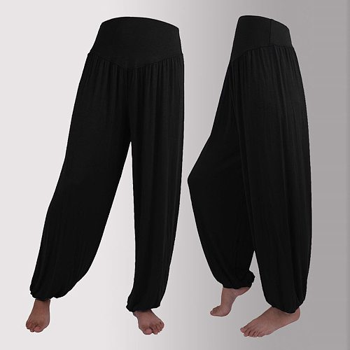 Women Belly Dance Pants Yoga Trousers Long Pleated Capris Soft Loose Bloomers Wide Leg Harem Pants Men's Trousers Брюки @40