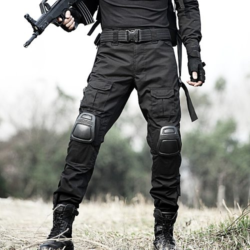 Military Tactical Pants Army Cargo Pants with Kneepads Outdoor Working Cambat Men Trouser Police Airsoft Hunting Camo Pants