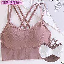 Sports Bra Women Fitness Top Seamless Yoga Underwear Running Yoga Gym Crop Top Women Push Up Sport Bra Vest