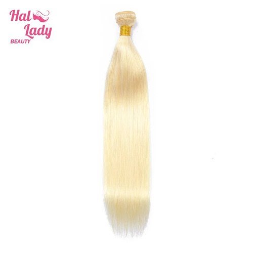 Halo Lady Beauty  613 Color Bundle Blonde Brazilian Hair Extensions Straight Human Hair Bundles Weaves Remy 24 26 28 30 inch