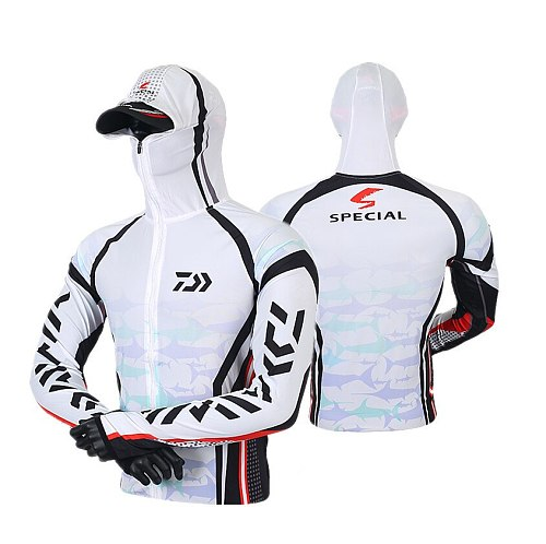 2020 New Summer Daiwa Outdoor Sporting Fishing Sunscreen Fishing Shirt  Breathable Ice Silk Mosquito Long Sleeves